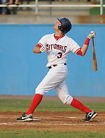 July 16, 2009: Infielder Danny Espinosa (3) of the Potomac Nationals, Carolina League affiliate of the Washington Nationals, before a game at G. Richard Pfitzner Stadium in Woodbridge, Va. Photo by:  Tom Priddy/Four Seam Images