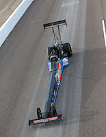 Feb 21, 2015; Chandler, AZ, USA; NHRA top fuel driver J.R. Todd during qualifying for the Carquest Nationals at Wild Horse Pass Motorsports Park. Mandatory Credit: Mark J. Rebilas-