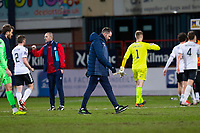 16th March 2021; Dens Park, Dundee, Scotland; Scottish Championship Football, Dundee FC versus Ayr United; Dundee manager James McPake looks dejected at full time