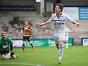Raith Rovers' Joe Cardle celebrates after he scores their fourth goal.