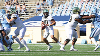 CHAPEL HILL, NC - NOVEMBER 14: Sam Hartman #10 of Wake Forest drops back to pass during a game between Wake Forest and North Carolina at Kenan Memorial Stadium on November 14, 2020 in Chapel Hill, North Carolina.
