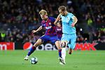 UEFA Champions League 2019/2020.<br /> Matchday 4.<br /> FC Barcelona vs SK Slavia Praha: 0-0.<br /> Frenkie de Jong vs Tomas Soucek.