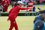Glasgow 2014 Commonwealth Games<br /> <br /> Kelly Packwood (Wales) competing in the lawn bowls women's triples.<br /> <br /> 30.07.14<br /> ©Steve Pope-SPORTINGWALES