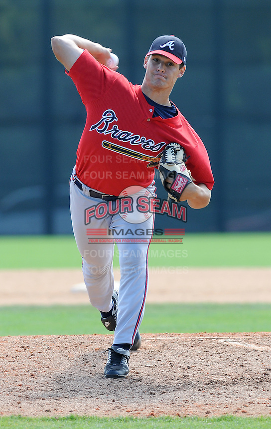 17 March 2009: RHP Ryne Reynoso of the Atlanta Braves at Spring Training camp at Disney's Wide World of Sports in Lake Buena Vista, Fla. Photo by:  Tom Priddy/Four Seam Images