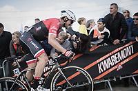 John Degenkolb (DEU/Trek-Segafredo) pushing hard for the final climb up the Paterberg<br /> <br /> 101th Ronde Van Vlaanderen 2017 (1.UWT)<br /> 1day race: Antwerp › Oudenaarde - BEL (260km)