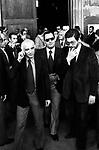 MARIO MONICELLI CON ALBERTO SORDI ED ETTORE SCOLA<br /> SAN LORENZO FUORI LE MURA ROMA 1977