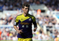 Pictured: Ben Davies of Swansea. Saturday 19 April 2014<br /> Re: Barclay's Premier League, Newcastle United v Swansea City FC at St James Park, Newcastle, UK.