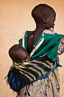 Africa, Sudan, Magwi County, Nimule, Southern Sudan - Portrait of a baby and her sister at an orphanage in Nimule. The area is in the heart of Lord Resistance Amy territory. December 2005 © Stephen Blake Farrington