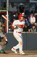 July 11 2009: Michael Gilmartin of the Vancouver Canadians during game against the Boise Hawks at Nat Bailey Stadium in Vancouver,BC..Photo by Larry Goren/Four Seam Images