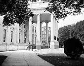 "0613-B092. ""President's entrance"" on the North side of the White House, Washington, DC, 1922"