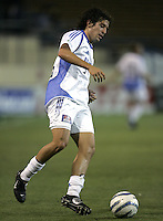 23 April 2005: Wizards' Nick Garcia in action against Earthquakes at Spartan Stadium in San Jose, California.   Earthquakes defeated Wizards, 3-2.  Credit: Michael Pimentel / ISI