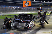 #4: Todd Gilliland, Kyle Busch Motorsports, Toyota Tundra Mobil 1, makes a pit stop.