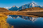 Mountain reflection at Torres Del Paine National Park, Chile, South America