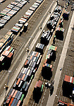 October 16, 2005; Oakland, CA, USA; Aerial view of shipping containers at the Port of Oakland in Oakland, CA. Photo by: Phillip Carter