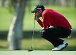 Alvaro Quiros in action  during Round 2 of the UBS Hong Kong Golf Open 2011 at Fanling Golf Course in Hong Kong on 2 December 2011. Photo ©  Andy Jones / The Power of Sport Images / The Power of Sport Images