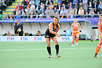 The Hague, Netherlands, June 05: Rhiannon Dennison #19 of New Zealand in action during the field hockey group match (Women - Group A) between New Zealand and The Netherlands on June 5, 2014 during the World Cup 2014 at Kyocera Stadium in The Hague, Netherlands. Final score 0-2 (0-2) (Photo by Dirk Markgraf / www.265-images.com) *** Local caption ***