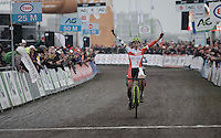 Sanne Cant (BEL/IKO Enertherm-BKCP) takes her 8th consecutive Belgian National CX Title<br /> <br /> Women's race<br /> Belgian National CX Championships 2017