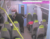 """Pictured: CCTV picture showing Lisa Savage attacking her friend<br /> Re: Woman jailed for life after violent train stabbing - South Wales<br /> A woman who stabbed her friend in a violent attack on board an Arriva Trains Wales service has today been jailed for life.<br /> Lisa Savage, 42, of Aberdare, South Wales, appeared at Cardiff Crown Court on 16 October where she was sentenced, having pleaded guilty to attempted murder at a previous hearing. <br /> On 15 April, Savage and the 43-year-old woman boarded the 10.33pm Gloucester to Cardiff Central service. The court heard the pair had spent the day drinking and soon began to argue. <br /> Savage then kicked and punched her victim, before pulling out a blade and stabbing her repeatedly. She was left with multiple lacerations to her face and hands which required surgery, and a deep stab wound to her neck. <br /> Savage left the train at Chepstow Station, leaving the victim bleeding heavily on the floor. <br /> Following enquiries by BTP, Savage was located in a nearby car park and arrested by local officers. She laughed and told police: """"I'm happy"""" and """"I took her out didn't I."""" In addition to the blade used, officers also found a large kitchen knife in her handbag.<br />  Savage was sentenced to life in prison, where she will serve a minimum of eight years and four months. <br /> In a statement provided to police, the victim said she now struggles to leave the house, and has suffered violent flashbacks of the incident. She has now been told she will never be able to fully open her right eye again, and her vision will never return to normal. <br /> Temporary DCI Jaci Thomas said: """"This was a shocking and vicious attack, and I am pleased we have been able to bring Lisa Savage to justice. <br /> """"I would particularly like to thank my team for their outstanding contributions to this case, which has seen Lisa Savage receive a long custodial service and a dangerous woman removed from the streets."""""""