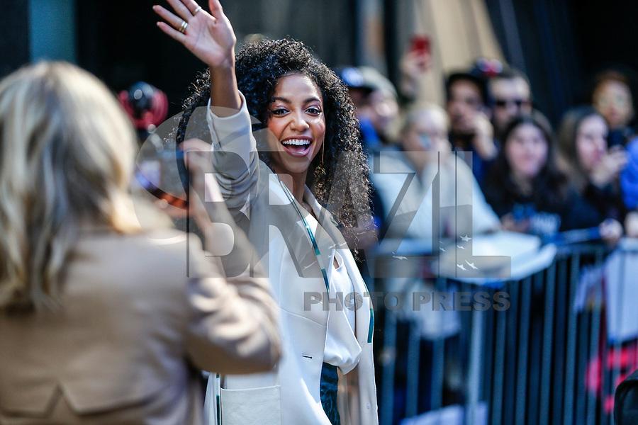 Nova York (EUA), 06/05/2019 - Celebridades / Nova York / Cheslie Kryst - A Miss Estados Unidos 2019 Cheslie Kryst na região da Times Square em Nova York nos Estados Unidos nesta segunda-feira, 06. (Foto: Vanessa Carvalho/Brazil Photo Press)