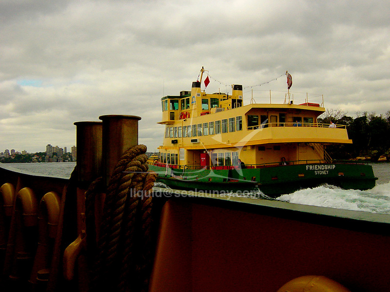 Onboard a ferry between Circular Quay to Mosman in the Sydney Harbour