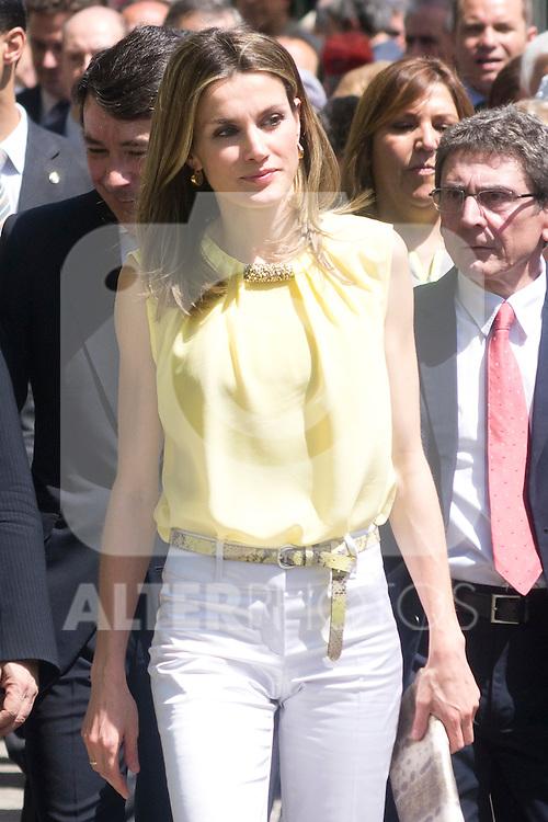25.05.2012. Prince Felipe of Spain and Princess Letizia attend the inauguration of the Book Fair 2012 at the Retiro in Madrid. In the image Letizia Ortiz (Alterphotos/Marta Gonzalez)