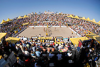 Huntington Beach, CA - 5/6/07:  The stadium is packed during the womens' championship match of the AVP Cuervo Gold Crown Huntington Beach Open of the 2007 AVP Crocs Tour..Photo by Carlos Delgado