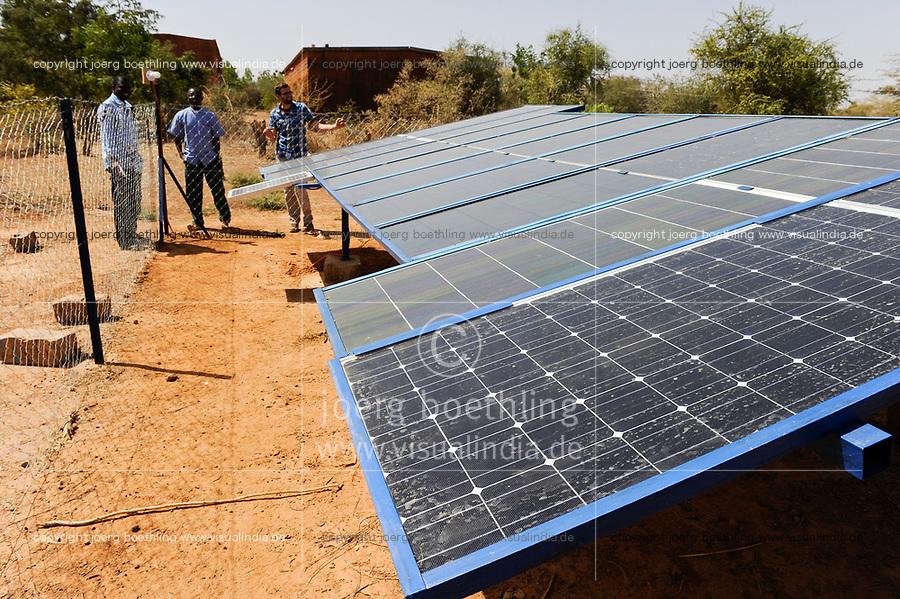 BURKINA FASO Kaya, solar panel for electrification of catholic school / BURKINA FASO Kaya, Solaranlage fuer Stromversorgung einer katholischen Schule