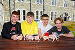 St Brendan's College students Joe Rudden Cian O'Sullivan, Cathal Griffin and Robert O'Shea who received their Leaving Cert results online last Friday