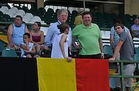 Hungary - Hongarije : UEFA Women's Euro Qualifying group stage (Group 3) - 20/06/2012 - 17:00 - szombathely  - : Hungary ( Hongarije ) - BELGIUM ( Belgie) :.Marc Lesenfants , Maryan Mahieu en Lorca Van De Putte.foto DAVID CATRY / JOKE VUYLSTEKE / Vrouwenteam.be.