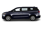 Car Driver side profile view of a 2019 KIA Sedona EX 5 Door Minivan Side View