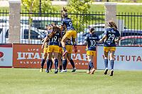 HERRIMAN, UT - JULY 4: Utah Royals FC celebrates goal during a game between Sky Blue FC and Utah Royals FC at Zions Bank Stadium on July 4, 2020 in Herriman, Utah.
