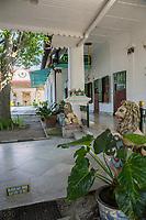 Yogyakarta, Java, Indonesia. Sultan's Living Quarters, at far end.