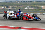 A.J. Foyt Enterprises driver Tony Kanaan (14) of Brazil in action during the practice round at the Circuit of the Americas racetrack in Austin,Texas.