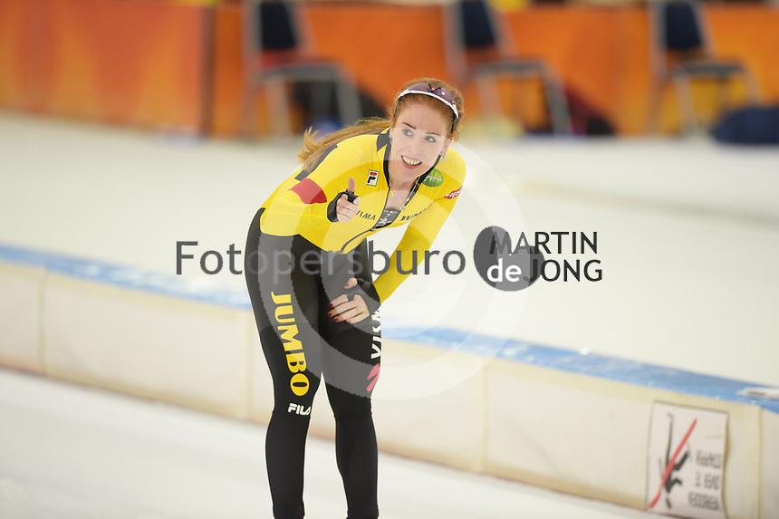 CHAATSEN: HEERENVEEN, 27-12-2020, IJsstadion Thialf, Antoinette de Jong, 3000 meter, Baanrecord 3.57,32, ©foto Martin de Jong