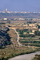 Gozo, Malta.  View from Ta Cenc Ridge, Country Road.