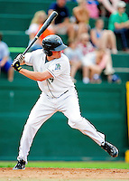 25 July 2010: Vermont Lake Monsters infielder Jack Walker in action against the Tri-City ValleyCats at Centennial Field in Burlington, Vermont. The ValleyCats came from behind to defeat the Lake Monsters 10-8 in NY Penn League action. Mandatory Credit: Ed Wolfstein Photo