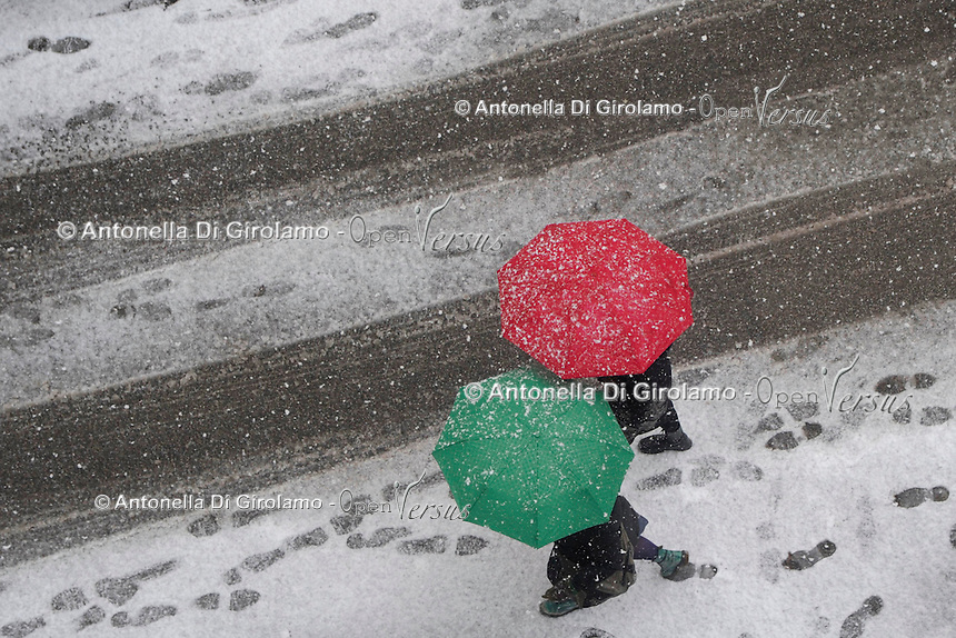 Neve a Roma.Snow in Rome
