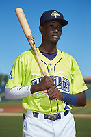Columbia Fireflies shortstop Ronny Mauricio (2) poses for a photo prior to the game against the Rome Braves at Segra Park on May 13, 2019 in Columbia, South Carolina. The Fireflies walked-off the Braves 2-1 in game one of a doubleheader. (Brian Westerholt/Four Seam Images)