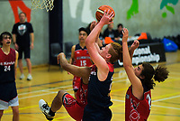 Action from the 2019 Schick A Boys' Secondary Schools Basketball Premiership National Championship match between Hillmorton High School and St Kevin's College at the Central Energy Trust Arena in Palmerston North, New Zealand on Monday, 30 September 2019. Photo: Dave Lintott / lintottphoto.co.nz