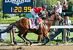 SARATOGA SPRINGS - AUGUST 27: A.P. Indian #11, ridden by Joe Bravo, wins the Priority One Jets Forego Stakes on Travers Stakes Day at Saratoga Race Course on August 27, 2016 in Saratoga Springs, New York. (Photo by Sue Kawczynski/Eclipse Sportswire/Getty Images)