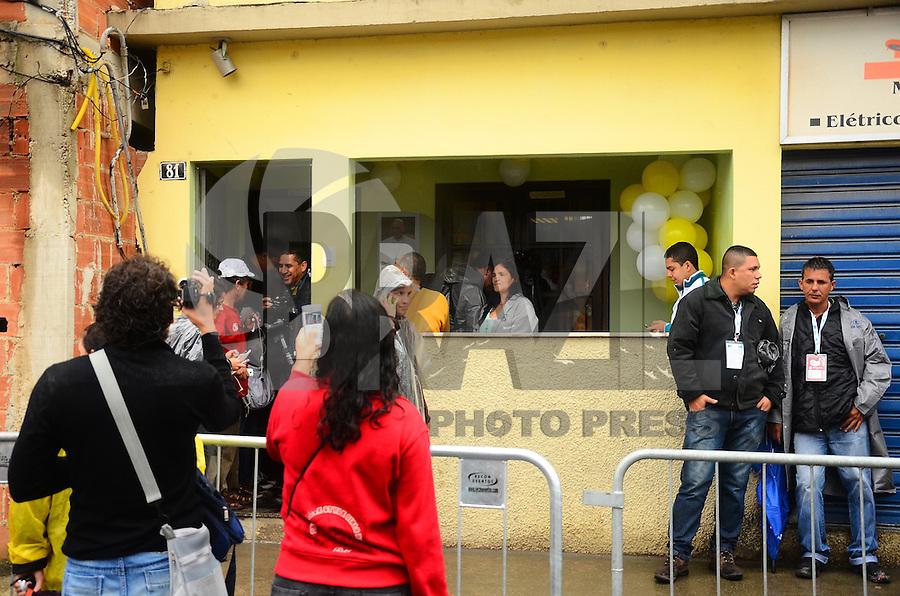 RIO DE JANEIRO, RJ, 25 DE JULHO DE 2013 -JMJ RIO 2013-CASA VISITADA POR PAPA FRANCISCO- Casa escolhida por Papa Francisco em sua visita pela comunidade Varginha em Manguinhos, zona norte do Rio de Janeiro.FOTO:MARCELO FONSECA/BRAZIL PHOTO PRESS