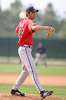 March 23rd 2008:  Carlos Rivas of the Atlanta Braves minor league system during Spring Training at Disney's Wide World of Sports in Orlando, FL.  Photo by:  Mike Janes/Four Seam Images