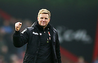 Bournemouth Manager Eddie Howe  celebrates after the Barclays Premier League match between AFC Bournemouth and Swansea City played at The Vitality Stadium, Bournemouth on March 12th 2016