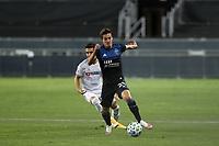 SAN JOSE, CA - NOVEMBER 4: Carlos Fierro #21 of the San Jose Earthquakes during a game between Los Angeles FC and San Jose Earthquakes at Earthquakes Stadium on November 4, 2020 in San Jose, California.