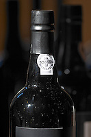 bottle neck with control label quinta do noval douro portugal