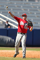 Ohio State Buckeyes Matt Streng #20 during a game vs. the Illinois State Redbirds at Chain of Lakes Park in Winter Haven, Florida;  March 11, 2011.  Illinois defeated Ohio State 12-1.  Photo By Mike Janes/Four Seam Images