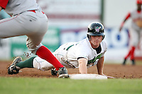 July 11th 2008:  Third baseman Paul Gran of the Jamestown Jammers, Class-A affiliate of the Florida Marlins, during a game at Russell Diethrick Park in Jamestown, NY.  Photo by:  Mike Janes/Four Seam Images