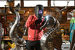 New Forest metal sculpton Michael Turner found a 60% increase in enquiries