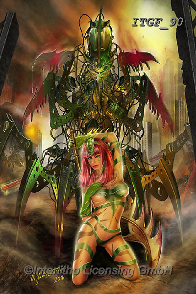 Gaetano, MODERN, MODERNO, paintings+++++The Praying Mantis,ITGF90,#n#, EVERYDAY ,fantasy,puzzles,gothic,pin-up,pin-ups