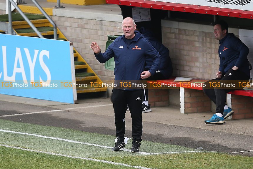 Woking manager Alan Dowson during Dagenham & Redbridge vs Woking, Vanarama National League Football at the Chigwell Construction Stadium on 3rd May 2021